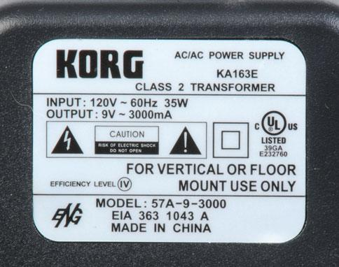 Korg N5 Power Supply http://www.guitar-parts.com/catalog/korgvox-power-supply-ka-163e