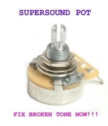 Guitar, Bass, Volume Control Pot, Tone Control Pot, CTS, 250K,