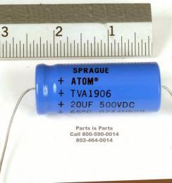 Capacitor 20uf at 500 volts Sprague