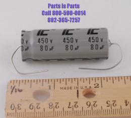 Capacitor 80uf at 450 volts IC, 80/450 CAP