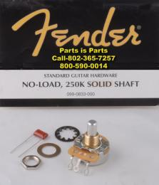 Fender Guitar Pot, No Load 250K, 990832, 990833