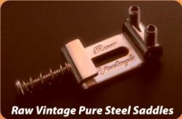 Raw Vintage Pure Steel Stratocaster and Telecaster Saddles For Guitar, RVS108