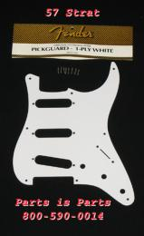 Fender 57 Strat Pickguard 1 Ply White, 0992017000