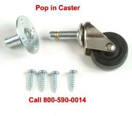 Ernie Ball Pop In Amp Casters, EB6102