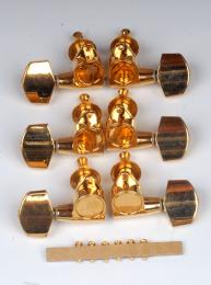 Gibson Style Ping Tuners 3x3 Gold, P2651
