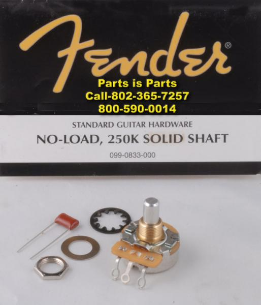 guitar pots for volume and tone control fender guitar pot no load 250k 990832 990833