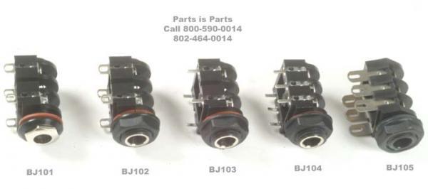 British Style Amplifier Jacks | Parts Is Parts - Guitar Parts ...