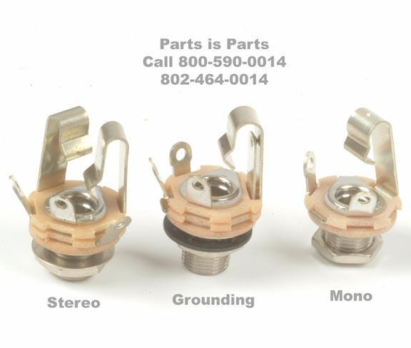 input output jack 1 4 inch female mono parts is parts guitar rh guitar parts com 4 Pole 3.5Mm Jack Wiring Diagram 4 Pole 3.5Mm Jack Wiring Diagram
